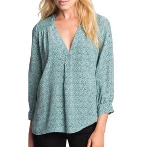 Joie Aceline Floral-Print Blouse Size Extra Small